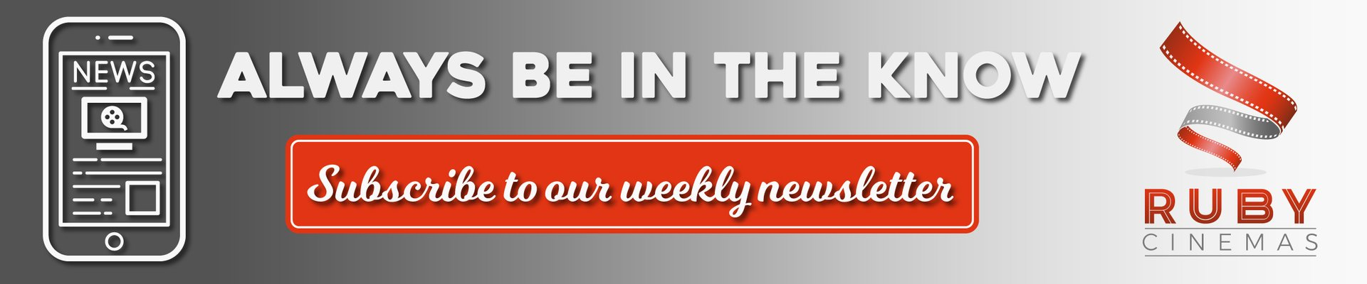 subscribe to our weekly newsletter