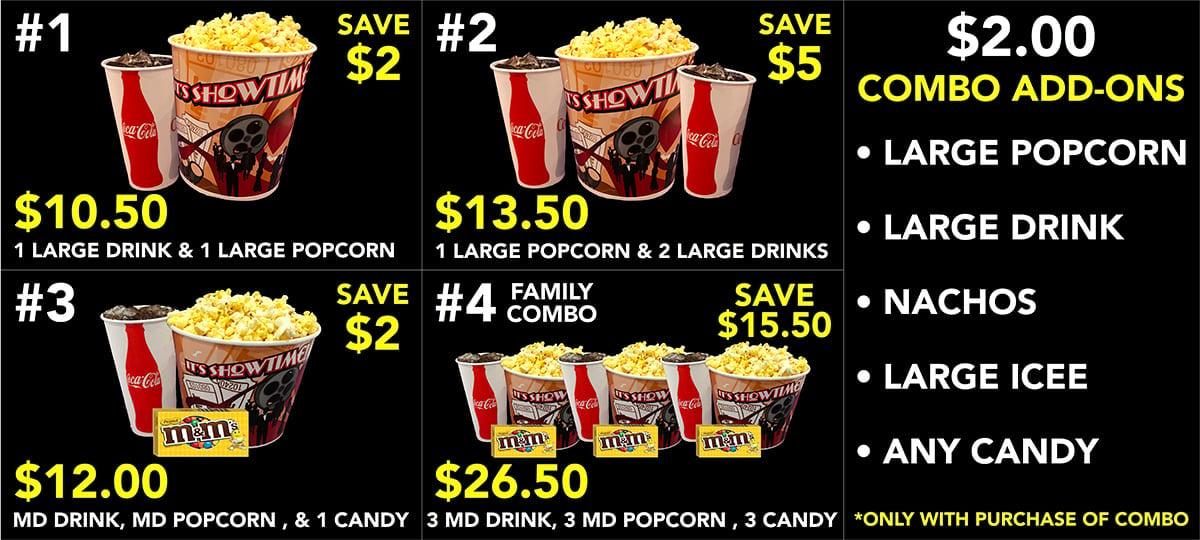 concession menu
