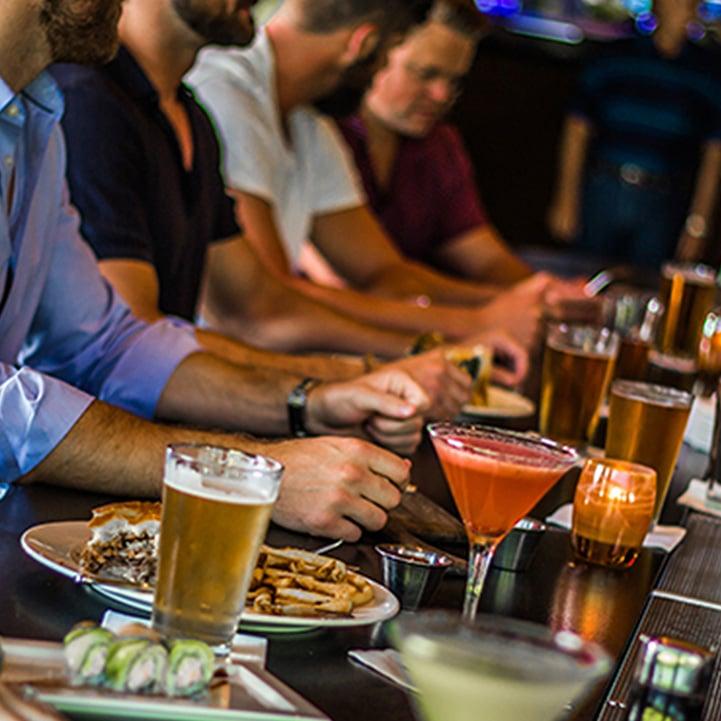 People food at bar